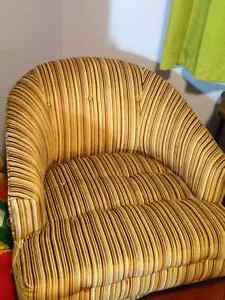 Retro Striped Swivel Chair - unique