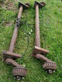 Pair of Alldko trailer axles