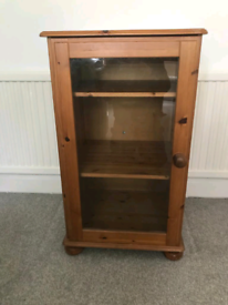 Oregan Pine & Glass Cabinet