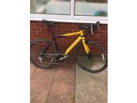 Carrera tdf road bike bicycle black/yellow Large