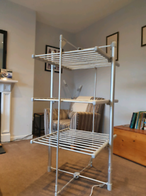 Lakeland 3 tier heated clothes rail.