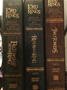 DVDs Lord of the Rings Trilogy-Extended Editions Boxed Set