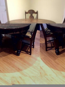 Kitchen Antique Round Dining Table and 4 Charis Windsor Region Ontario image 1