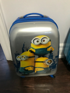 Minions travel suitcase carry on luggage