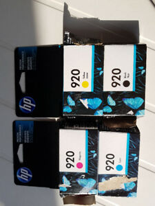 HP Officejet 920 Ink Cartridges, one each of: