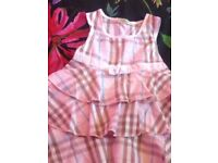 Burberry imported dresses 2-4 year