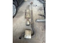 Golf mk2 miltec exhaust middle and rear box can post