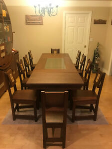Exclusive Handmade Dining Room plus Cabinet