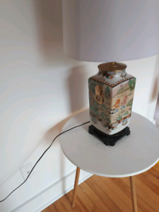 Antique lamp and new shade OBO