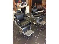2 x Belmont Apollo2 barber chairs