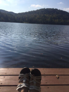 Private chalet directly on lac nominique in the lauretians