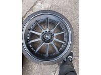 18inch alloy wheels 5x100 subaru/golf/seat multifilament