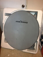 Star Choice receiver and dish