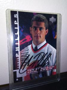Ottawa Senators Chris Phillips Autographed Rookie Card