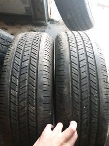 2 pneus d'été goodyear 215 70 15 .