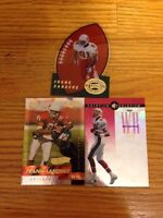 3 Mixed Football Cards - Sanders Rice - High Book Value