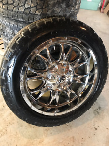 """22"""" Fuel Rims with Nitto Terra Grapplers"""