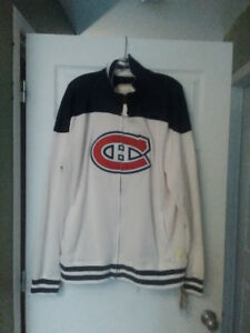 Montreal Canadiens Reebok Vintage Throwback Full Zip Track Jackt