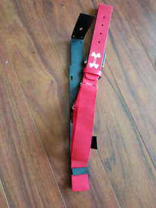 Hurley baseball belt one-size-fits-all never used red