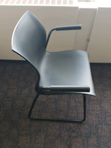 Teknion Nami Stackable arm chairs waiting room office LIKE NEW