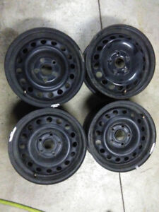 15x6 Steel Wheels 5x112
