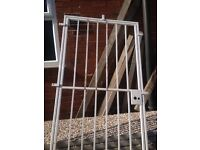Security gate white with key metal gate