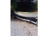 Boat and trailer bonwitco ready to go