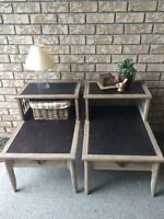 Vintage Solid Wood Step Tables