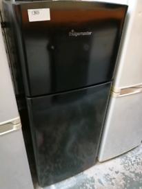 Fridgemaster Small fridge freezer black with warranty at Recyk Applian