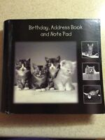 Cats Book for Birthdays, Address Book and Note Pad