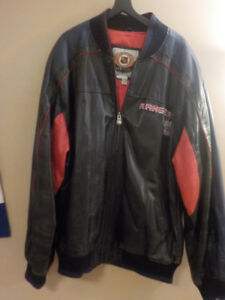"""NEW YORK RANGERS"" NHL LEATHER JACKET *OFFICIAL LICENSE"