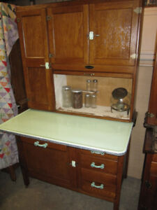 SELLERS OAK HOOSIER CABINET CUPBOARD FLOUR SUGAR ALL THE JARS