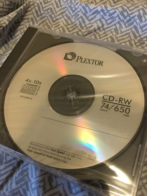 Plextor CD-RW Rewritable disc (74 min, 650 MB)
