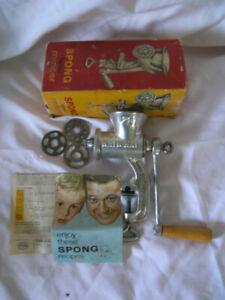 Spong National vintage meat mincer/grinder