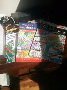 3 Adult Colouring Books