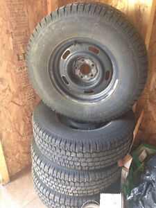 P235/75R15 Studded Tires and Rims