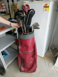 Golf bag and 12 clubs - make an offer!