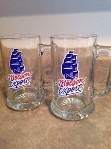 Molson export beer mugs