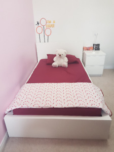 Used Ikea Twin Bed with Matress