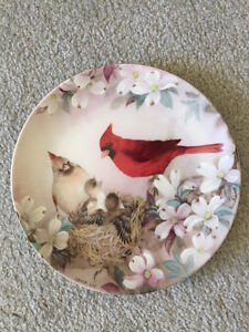 Morning serenade collectable plate