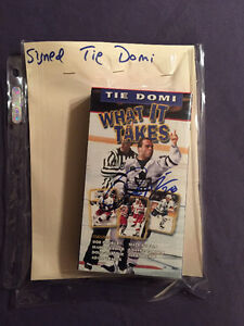 AUTHOGRAPHED TIE DOMI WHAT IT TAKES VHS TAPE Cambridge Kitchener Area image 1