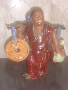 Vintage Chinese famous Feng Shui money delivery boy/folk