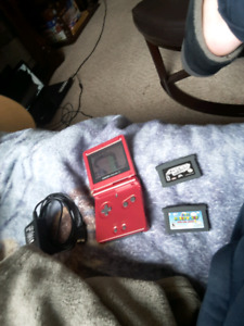Game boy advance sp and 3 games