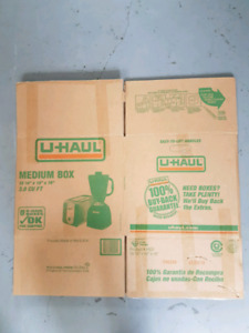 U-Haul Boxes 7 for $10