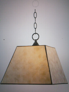 New, Never Used -  Pearl Mica Pendant Lamp