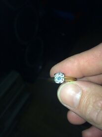 18 carat gold one carrot in gauge meant ring