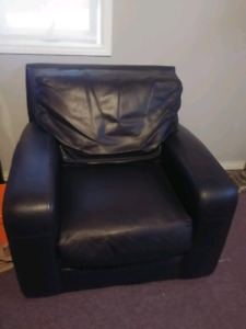 Brown Pleather Chair MUST GO