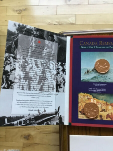 Canada remembers - wwii six medallion commemorative set-$25