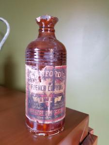 Ceramic Sandford Ink Bottle Antique
