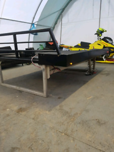Cross trax 8ft sled deck with ramp and winch